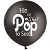 Gender Reveal Ballon He or She incl. helium & confetti