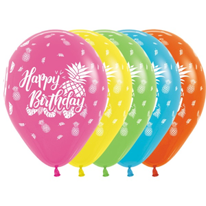 Ballonnen Happy Birthday Tropical