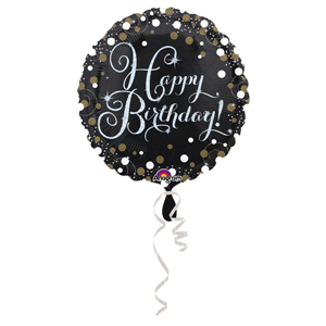 Folieballon Happy Birthday Sparkling 45 cm