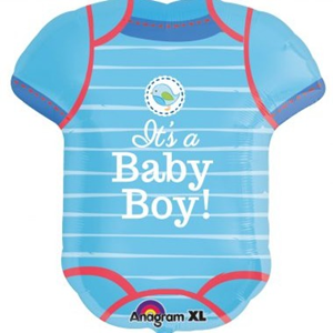 Folieballon Geboorte Baby Body it's a Boy 60 cm