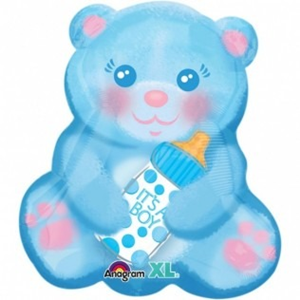 Folieballon Geboorte Bear it's a boy 45 cm