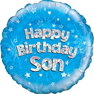 Folieballon Happy Birthday Son
