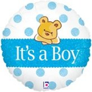 Folieballon geboorte Jongen It's a Boy Bear 45 cm