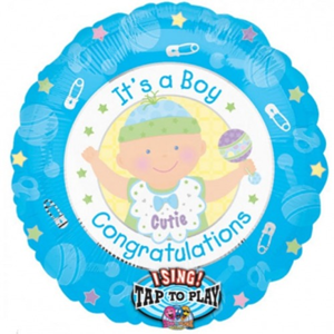 Folieballon Jongen Its A Boy Sing-A-Tune 71 cm