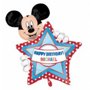 Folieballon Mickey Happy Birthday 76 cm