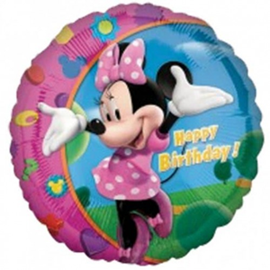 Folieballon 'HBD' Minnie (43cm)