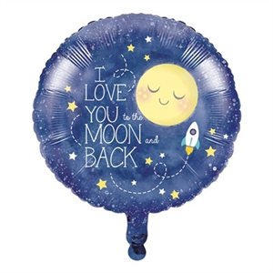 Folieballon I Love You To the Moon & Back 45 cm
