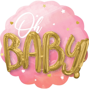 Oh Baby Girl Pink - 3D Effect - 28 inch / 76 cm