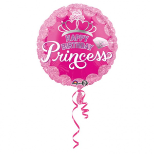 Folieballon Happy Birthday Princess 43 cm
