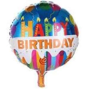 Folieballon Happy Birthday kaarsjes 45 cm