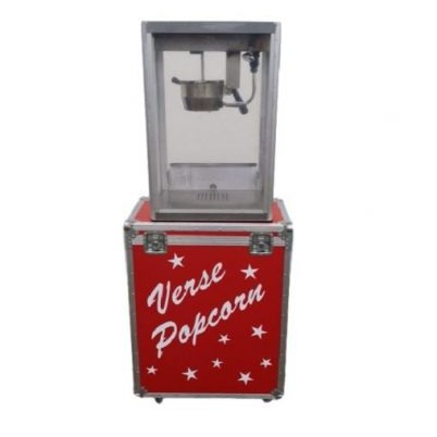 Popcorn machine op kist